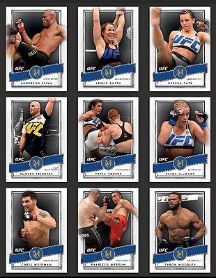 Topps Digital UFC Knockout Museum Collection Wave 2 Complete Blue 19 Card Set
