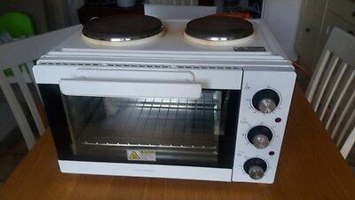 Cookworks Mini Oven And Twin Electric Hob