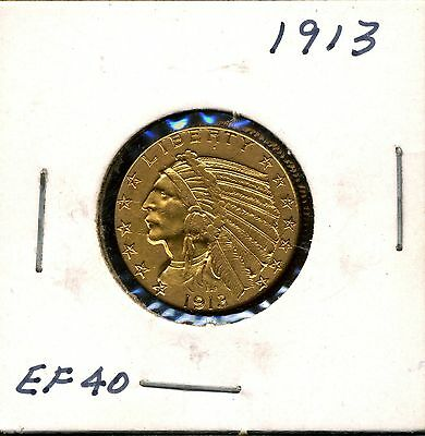 1913 G$5 Indian Head Gold Half Eagle in XF Condition