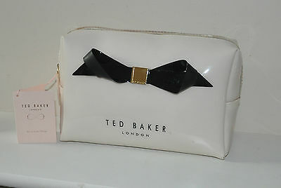 BNWT Ted Baker Large Bow Wash Bag - Cream -  Toiletry Bag / Make Up Bag