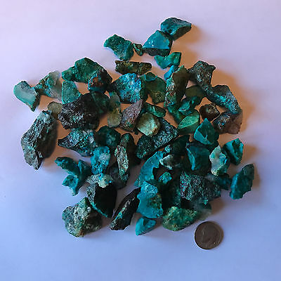 1000 Carat Lots of SMALL Chrysocolla & Turquoise Rough + a FREE faceted Gemstone