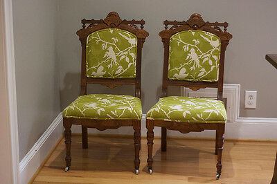 Two Antique Victorian Dining Chairs