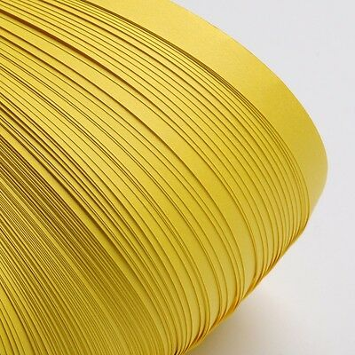 120pcs QUILLING PAPER STRIPS - CHAMPAGNE YELLOW - DIY papercraft craft wholesale