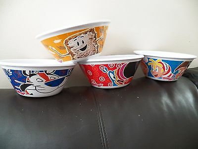 KELLOGGS COLLECTIBLE CEREAL BOWLS - Frosted Flakes / Fruit Loops / Rice Krispies