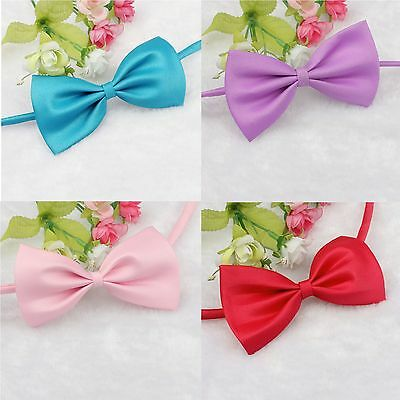 Pet Cat Dog Hair Bows Tie Rubber Sweet Beauty Grooming Accessorie Adjustable