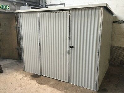 secure heavy duty steel shed 8'x 6'