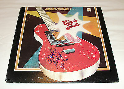 April Wine - Electric Jewels Vinyl LP Record *Autographed* Myles Goodwyn Signed