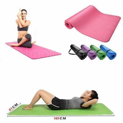 8MM/10MM Yoga Mat Gym Exercise Thick Fitness Physio Pilates Soft Mats Non-Slip