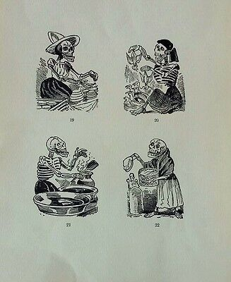 Jose Guadalupe Posada Engraving  print from original plaque DAY OF THE DEAD