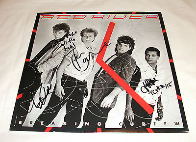 Tom Cochrane Red Rider - Breaking Curfew Vinyl LP Record *Signed* Record Sale!!