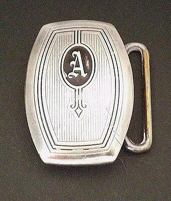 Hickok Sterling Silver Monogram A Belt Buckle Antique from Early 1900s