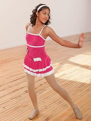 Dance Costume Small Child 2pc Pink White jazz tap Solo Competition Pageant Glitz