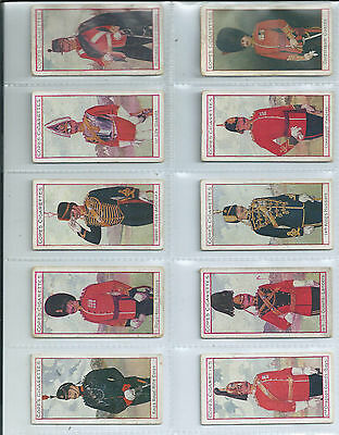 Set of 25 Copes Eminent British Regiments in average condition issued in 1908