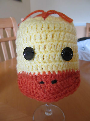 Baby duck hat, diaper cover and booties (0-3 months) crochet