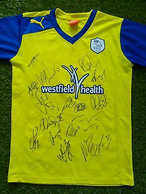 Sheffield Wednesday Shirt Hand Signed by 2016/2017 Squad - 16 Autographs Rhodes
