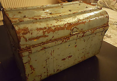 Antique Metal Travellers Chest/Trunk