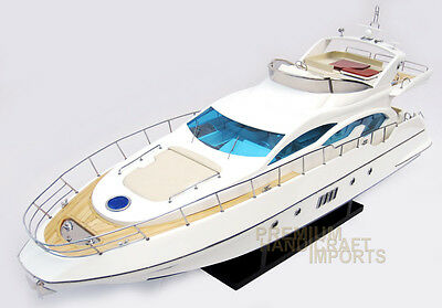 Azimut 70 Display Wooden Model Yacht