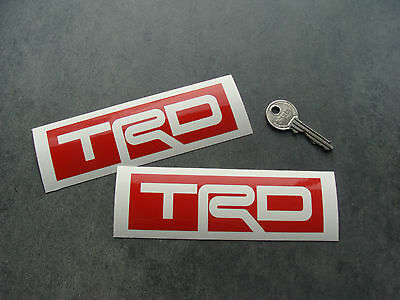 2x stickers TRD Rouge 13cm auto car toyota racing decals pegatinas A205-027