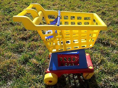 SHOPPING TROLLEY for KIDS with PLAY FOOD BOXES