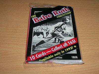 Babe Ruth Collection Unopened packs (1) 10- Babe Ruth Cards