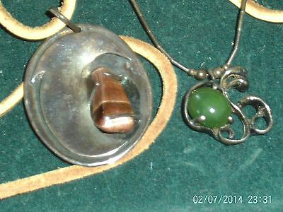 Unusual Native Tribal Necklace Retro Jewelry Lot Jade Silver Quality Creative