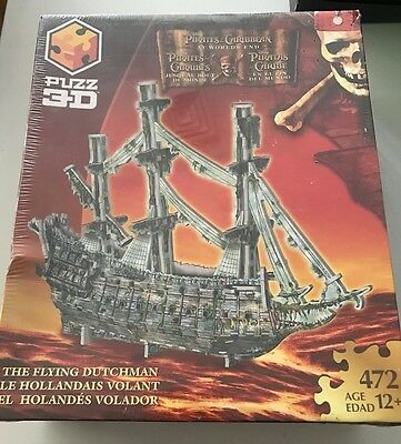 """PUZZ 3D Pirates of the Caribbean: At World's End """"The Flying Dutchman"""" Ship NEW"""