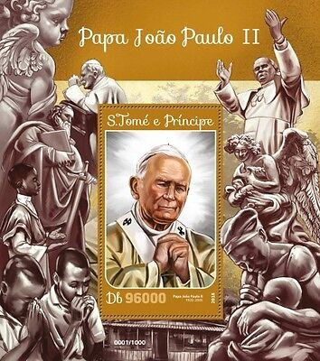 Z08 IMPERFORATED ST16210b Sao Tome and Principe 2016 Pope John Paul II MNH