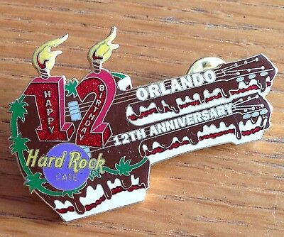 Orlando 12th Birthday Hard Rock Cafe Electric Guitar Pin Rare Authentic (D5)