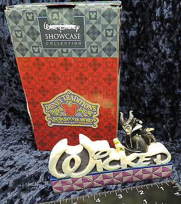 NIB Walt Disney Wicked  Queen Word Plaque  Jim Shore  Heartwood  Creek 4038490