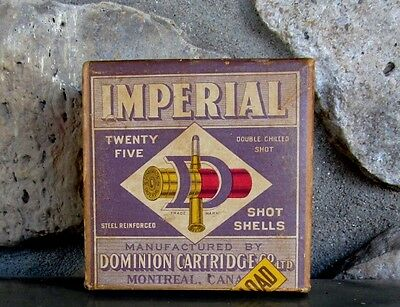 RARE 1st Year Dominion Cartridge IMPERIAL DuPont Long Range 2 Part ShotShell Box