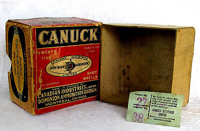 Scarce Dominion Cartridge Subsidiary,Transitional, 2 Part Canuck Shot Shell Box