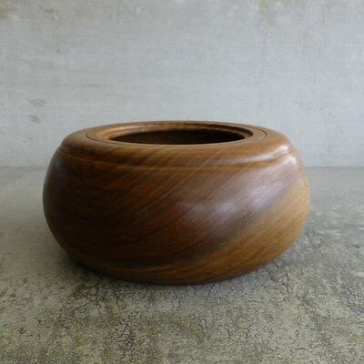 Handcrafted European Walnut Wooden Bowl Woodturned Port Macquarie Australia 2000