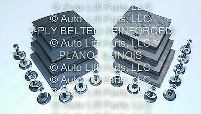 Set of 4 UPGRADE 6-PLY Rubber Arm Pads for AMERICAN LIFT Kennedale Texas