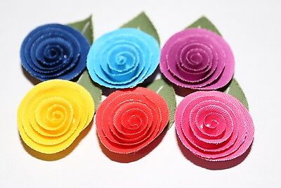Men's Fabric Rolled Flower Lapel Pin - Multiple Color Choices