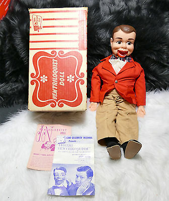 1960S Juro Novelty Co. Little Ricky Ventriloquist Doll In Original Box - Nice!