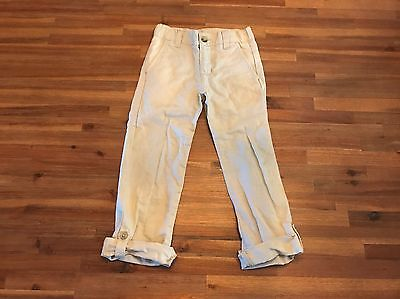 Janie And Jack Boy Girl Linen Roll-Up Trouser Pants Size 5