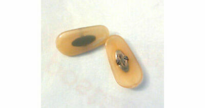 3 pairs 17 mm Clip on Gold replacement nose pads for Ray Ban frames, PVC