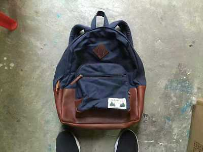 Retro LL Bean Canvas Leather Backpack Daypack Japan