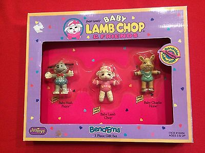 Vintage 1993 Baby Lamb Chop And Friends Gift Set Of Bendable Figurers New