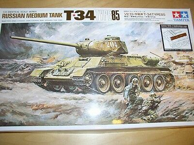 Tamiya 1/25 Russian Tank T34 Type 85 Model Tank kit #89569