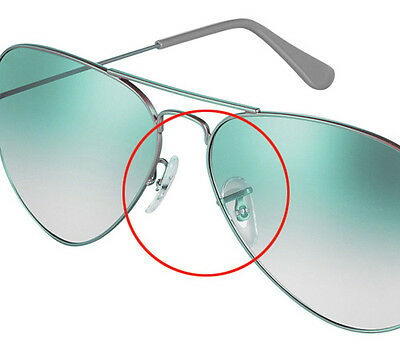 17mm Clip-on PVC Replacement Nose Pads for Ray-Ban Sunglasses (2 Pair) RB3025