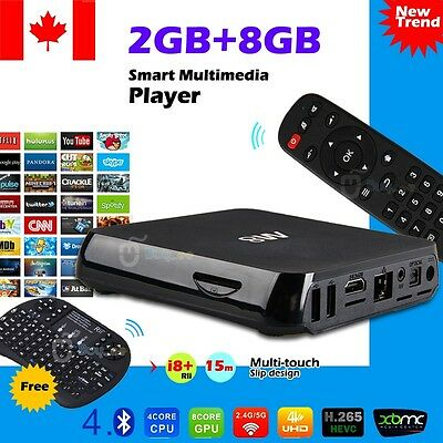 M8 Quad Core Android TV Box KODI (XBMC) + Fully Loaded Wifi + wireless Keyboard