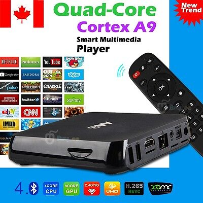 Android TV Box M8 Quad Core Latest 4K HD FULLY LOADED WiFi 5G KITKAT+ KODI XBMC