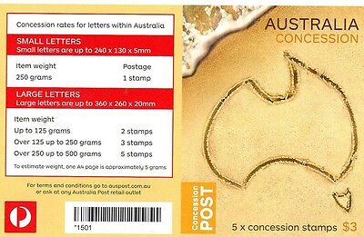 2014 Australian Stamp Booklet Postage Concession 5 Stamps
