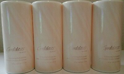 4 Brand New Sealed Bottles of Avon Goddess Shimmering Body Powder