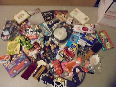 Lot Of Mixed Junk Drawer Items,diecast,papers,trinkets,toys,everything,scouts,