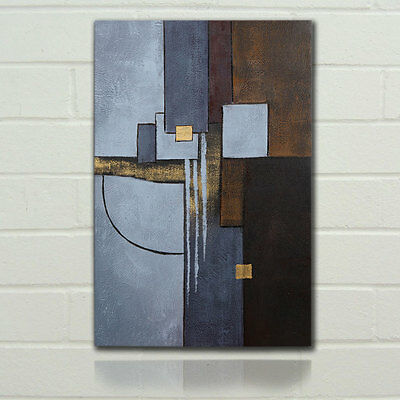 Abstract Oil Painting Modern Canvas Print On Art Wall Handpainted Large Framed