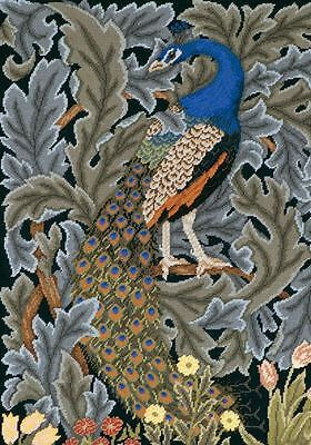 Ehrman Desgnr Beth Russell Needlepoint Tapestry Chart PEACOCK CUSHION FIRESCREEN