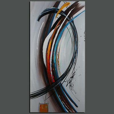 Modern Abstract Lines Oil Painting On Canvas Wall Art Decor Handpainted Framed