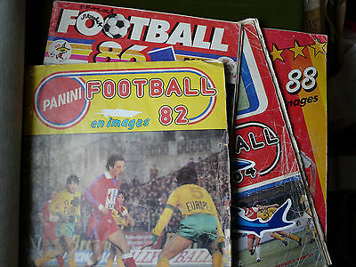 LOT 4 albums PANINI FOOTBALL 82 (complet//) + 84/86/88 division 1/2 incomplets//
